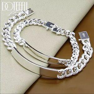 NEW* Men silver bracelet shiny 925 link sets (X2)